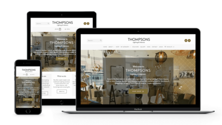 web-design-seo-larne-client-portfolio-thompsons-lighting-interiors