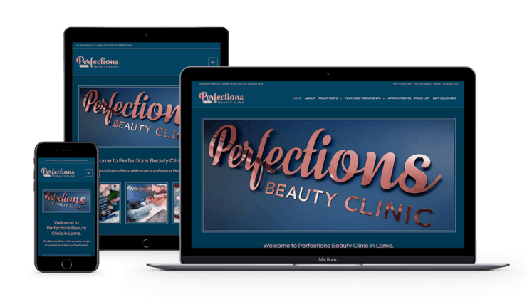 web-design-seo-larne-client-portfolio-perfections-beauty-clinic