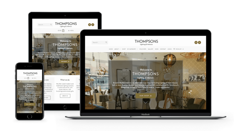 web-design-seo-larne-client-portfolio-thompsons-lighting-interiors